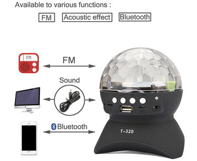 Rotating Disco Ball With USB FRONT Port