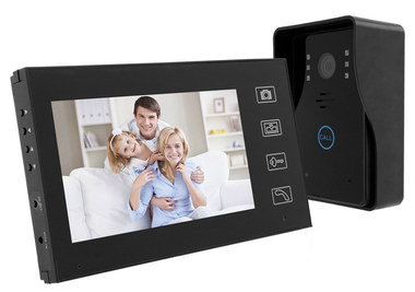 Video Door Intercom System In All Black Frame