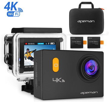 Affordable Action Camera With Black Carry Case