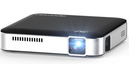 Mini LED Projector In Chrome And Black Finish