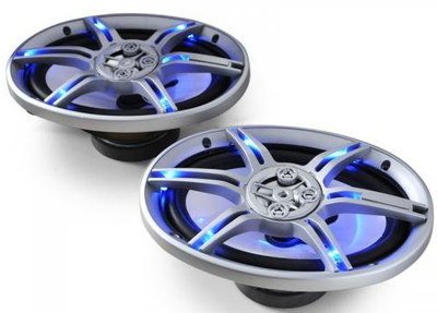Modish Car Speakers With Blue Light