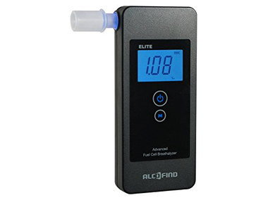 Portable Fuel Cell Breathalyzer Test With Black Exterior