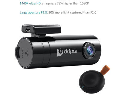 4MP Ultra HD Car Camera WiFi With Wide Lens