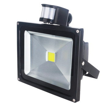 LED Outside Light Sensor 50W In Black
