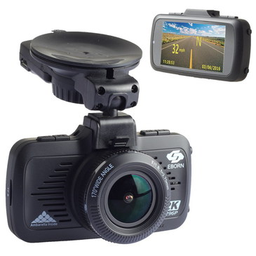 CMOS In Car Video Recorder GPS In All Black