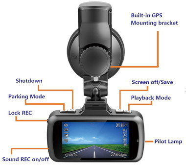 CMOS Approved Dash Cam With Black Bracket