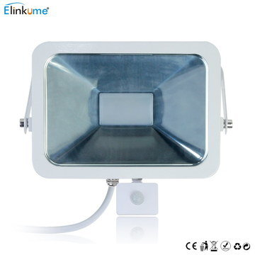 50W PIR LED Security Floodlight In White