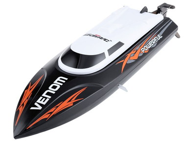 Radio Controlled Yacht With Curved Black Window