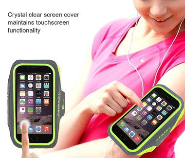 Mobile Phone Armband In Yellow And Green