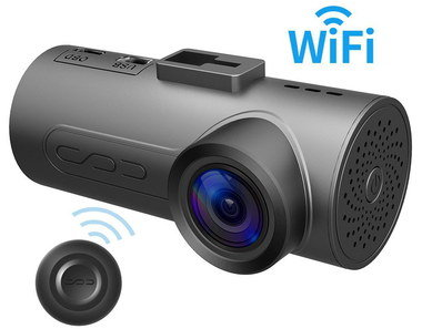 3 Axis Dash Cam With WiFi In All Black
