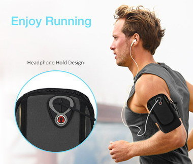 Sport Runners Arm Band Worn By Jogger