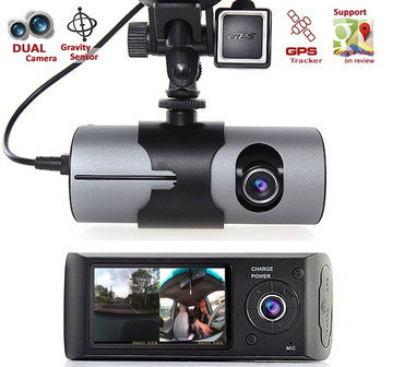 Dual Camera Dash Cam Recorder With GPS