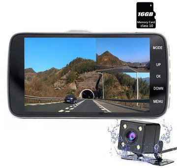 In Car Camera Front Rear With Black Memory Card