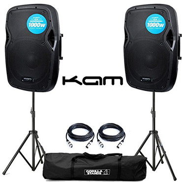 PA Portable System Speakers With Black Carry Bag