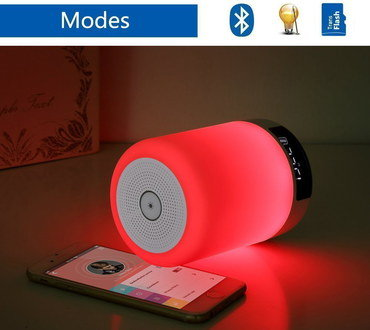 LED Bluetooth Speaker Night-Light With Red Glow