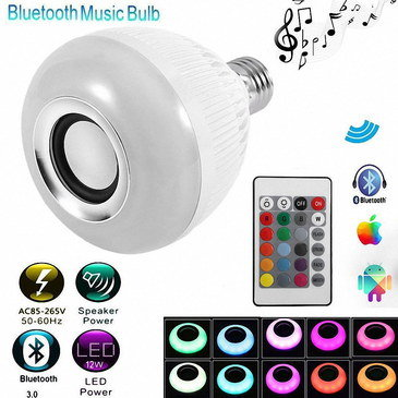 Bluetooth Remote Control Bulb In Grey And White