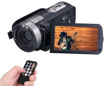 HD Camcorder With LED And Black Remote Device