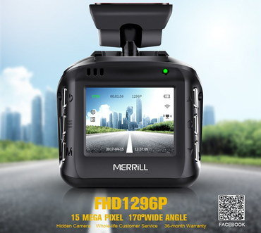 HD WiFi In-Car Video Camera With QR Code