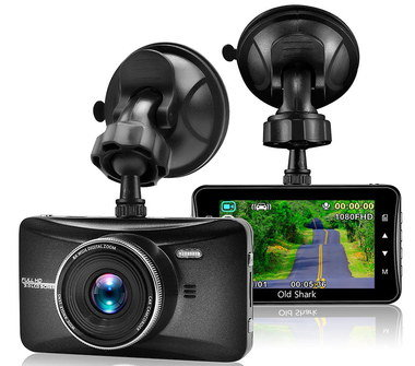 Wide Car Camera Recorder With Flexible Dash Fixing