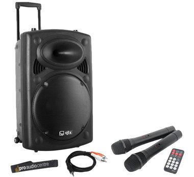 Compact PA System With Black Remote Control