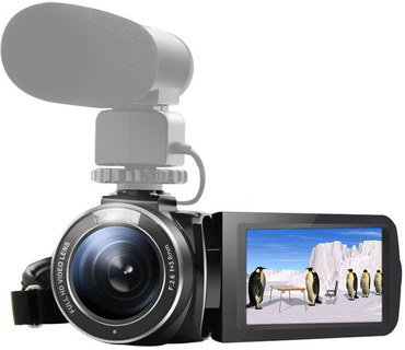 WiFi 1080p Camcorder With Big UV Lens