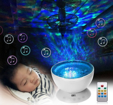 Childrens Light Projector With Grey Remote