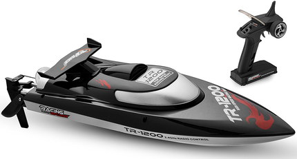 Radio Controlled Boat With Black Remote Device