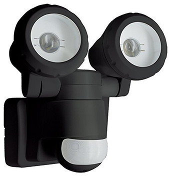 Dual Outdoor Light PIR With Wall Fixing Panel