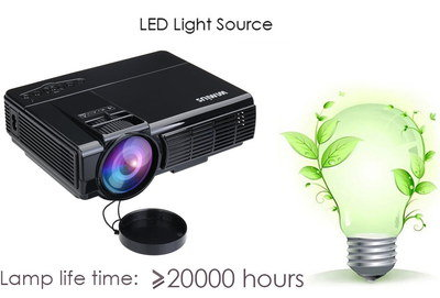 Small Mobile Projector In Black Exterior