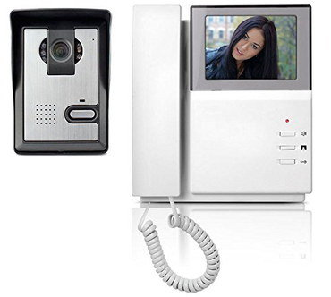 Video Door Intercom With White Cable