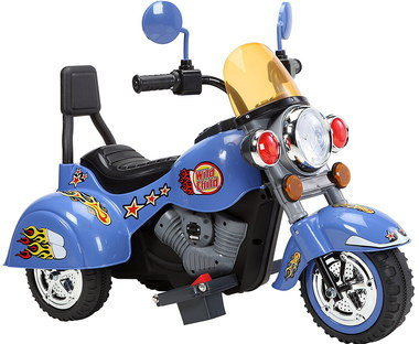Kids Electric Bike In Blue With Black Seat