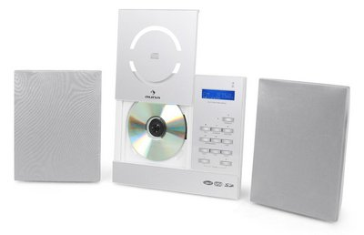 Mp3 Compatible CD Music Player In All White