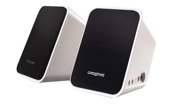 Bluetooth Laptop Speaker System In Black And White