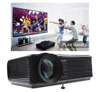 USB Projector Showing Family Game Play Picture