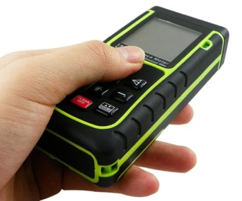 Laser Distance Meter In Black And Yellow Finish