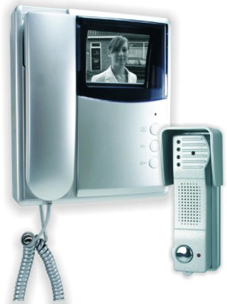 Video Intercom System For Home In White Casing