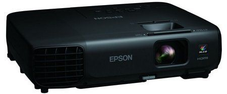 HD Video SVGA LCD Home Projector In Black Exterior