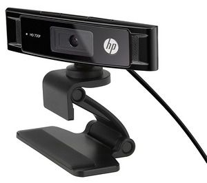 HP HD 3300 Webcam in Black With Clip And Cable