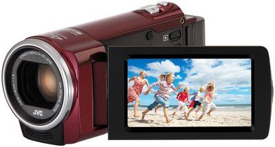 LCD Back Illuminated CMOS Sensor Camcorder In Dark Red Colour