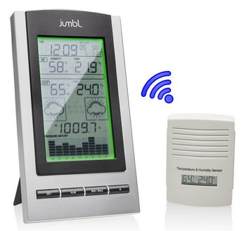 Weather Station In Grey With White Coloured Sensor