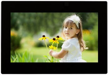 10 inch digital photo frame in black finish