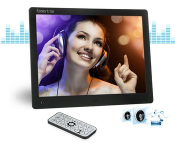 10 Inch Electronic Photo Frame Showing Speaker And Remote Control