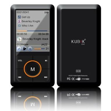 Front And Back View Kubik Evo MP3 Player