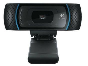 Logitech B910 USB HD Auto-Focus Webcam In Black With Blue Frame