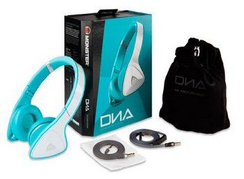 Wireless Headphones in Blue With Carry Bag