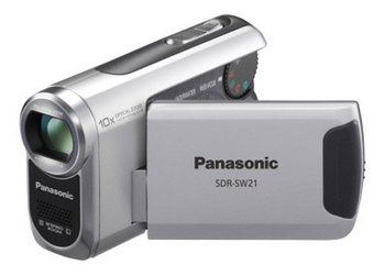 Hand Held Camcorder In Silver Grey Colour Exterior