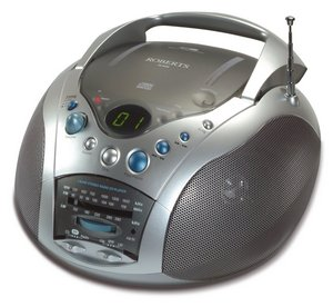 Clock FM Radio CD Player In Chrome Effect