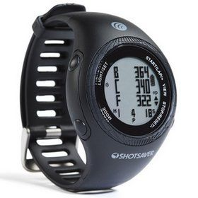 Shot Saver GPS Golf Watch With Round Black Dial