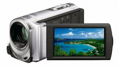 Motion Touch Screen Camcorder In Dark Silver Colour