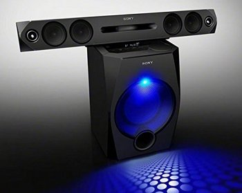 Sony HT-GT1 Wireless Bluetooth Soundbar In Black With Blue Party Light